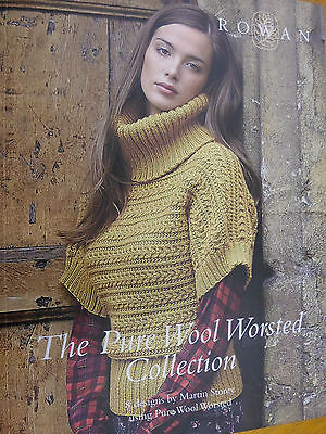 ROWAN  PURE WOOL WORSTED COLLECTION  KNITTING PATTERN BOOK 8 designs by Martin Storey
